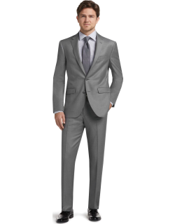 JoS. A. Bank Men's 1905 Navy Collection Slim Fit Suit Separates Jacket Clearance, Light Grey, 40 Short