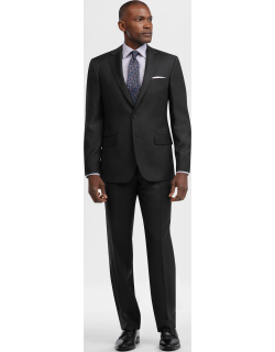 JoS. A. Bank Men's Reserve Collection Tailored Fit Check Suit, Charcoal, 43 Regular
