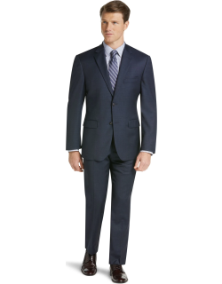 JoS. A. Bank Men's 1905 Collection Tailored Fit Suit Separate Jacket with brrr°? comfort Clearance, Bright Navy, 42 Regular