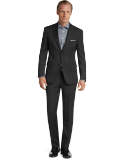 JoS. A. Bank Men's Executive Collection Tailored Fit Suit - Big & Tall, Black, 52 Long