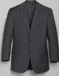 JoS. A. Bank Men's 1905 Navy Collection Tailored Fit Suit Separate Jacket - Big & Tall, Dark Grey, 52 Long