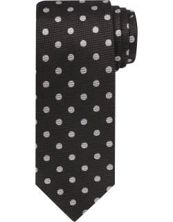 JoS. A. Bank Men's Reserve Collection Woven Dot Tie, Black, One