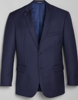 JoS. A. Bank Men's 1905 Navy Collection Tailored Fit Suit Separate Jacket - Big & Tall Clearance, Bright Navy, 60 Regular