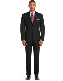 JoS. A. Bank Men's 1905 Collection Tailored Fit Textured Suit Separate Jacket - Big & Tall, Black, 56 Long