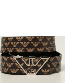 Emporio Armani belt in synthetic leather with all over logo