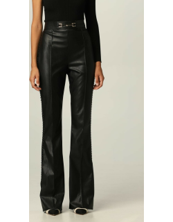 Elisabetta Franchi flared trousers in synthetic leather