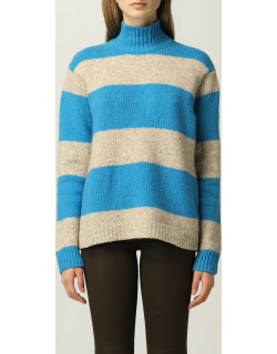 Jumper ROBERTO COLLINA Women colour Gnawed Blue