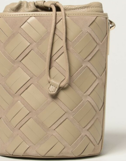 Lipari Furla bag in suede and woven leather