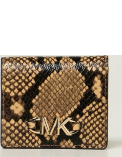 Michael Michael Kors wallet in leather with python print