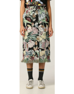 Christine Golden Goose skirt in cotton blend with floral pattern