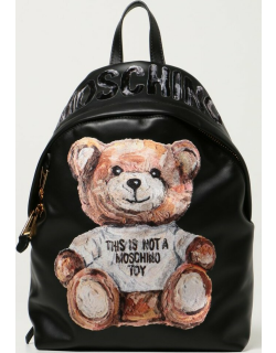 Moschino Couture leather rucksack with Teddy