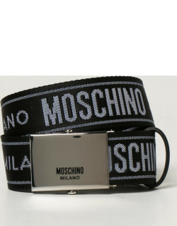 Moschino Couture belt in logoed canvas
