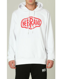 Diesel jumper in cotton with Be Brave print