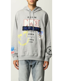 Diesel jumper in cotton with all over prints