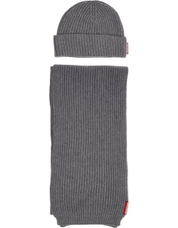 Men's beanie hat with scarf
