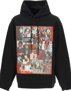 RAF SIMONS HOODIE WITH PATCH M Black Cotton