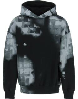 A COLD WALL PRINTED HOODIE M Black, Grey Cotton