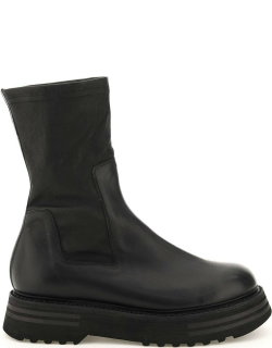 GUIDI LEATHER ANKLE BOOTS 40 Black Leather