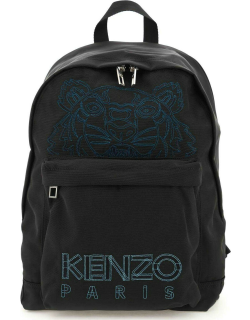 KENZO TIGER EMBROIDERY BACKPACK OS Black