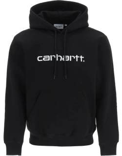CARHARTT HOODIE WITH EMBROIDERED LOGO M Black Cotton