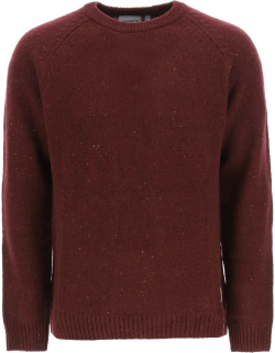 CARHARTT ANGLISTIC SWEATER S Red Wool, Cotton