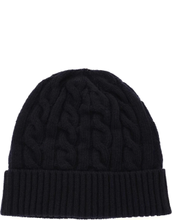 GM77 CABLE KNIT BEANIE HAT OS Blue Wool