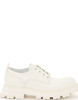 ALEXANDER MCQUEEN WANDER LEATHER LACE-UP SHOES 37 White Leather