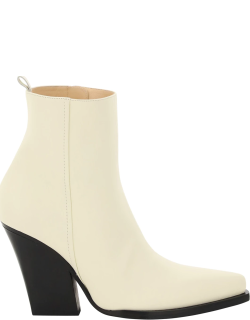MAGDA BUTRYM COWBOY BOOTS 39 White Leather