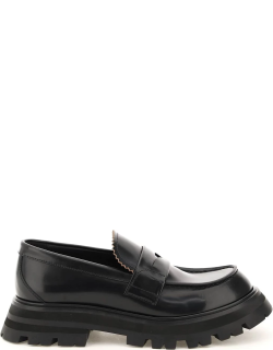 ALEXANDER MCQUEEN WANDER LEATHER MOCCASIN 39 Black Leather