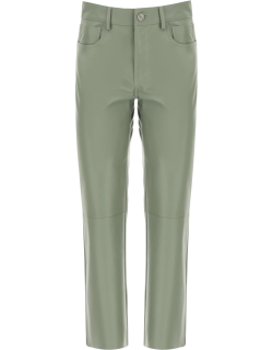 DROME CROPPED FIVE POCKET TROUSERS S Green Leather
