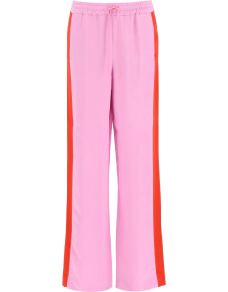 BURBERRY WIDE LEG TROUSERS 6 Pink, Red