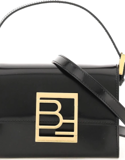 BY FAR SEMI PATENT LEATHER FRAN BAG OS Black Leather