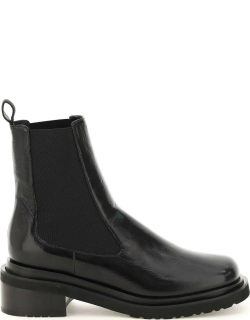 BY FAR RIKA CHELSEA BOOTS 36 Black Leather