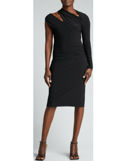Evelyn Stretch Jersey Cutout Cocktail Dress