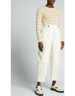 Darted Cropped Pants