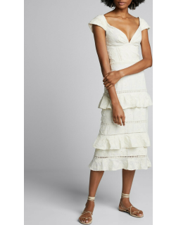 Traduce Me Convertible Off-the-Shoulder Ruffled Lace Dress
