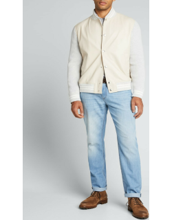 Men's Traditional-Fit Light-Wash Jeans