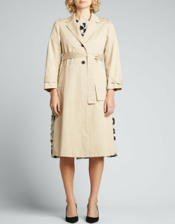 Belted Overcoat w/ Pleated Back Combo