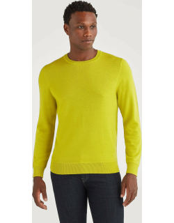 7 For All Mankind Mens Merino Wool Long Sleeve Crewneck in Bitter Absynthe