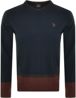 PS By Paul Smith Logo Knit Jumper Navy