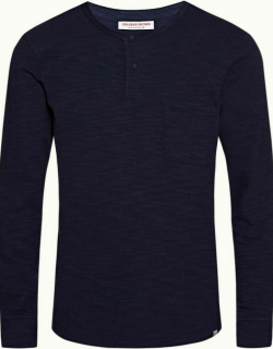 Benedict - Navy Relaxed Fit Long-Sleeve T-shirt