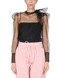 red valentino tulle point d'esprit shirt