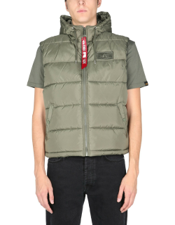 alpha industries quilted vest
