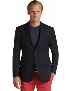 JoS. A. Bank Men's Traveler Collection Tailored Fit Utility Sportcoat, Navy, 44 Regular