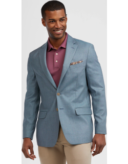JoS. A. Bank Men's 1905 Collection Tailored Fit Textured Sportcoat, Blue, 43 Regular