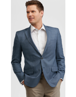 JoS. A. Bank Men's Reserve Collection Tailored Fit Check Sportcoat, Blue, 40 Regular