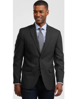 JoS. A. Bank Men's Travel Tech Collection Slim Fit Check Sportcoat - Big & Tall, Charcoal, 48 Long