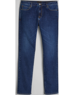 JoS. A. Bank Men's Reserve Collection Traditional Fit Jeans, Medium Wash, 33x30