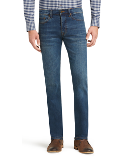 JoS. A. Bank Men's 1905 Collection Tailored Fit Jeans, Med Blue, 32x29