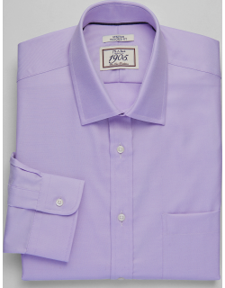 JoS. A. Bank Men's 1905 Collection Tailored Fit Spread Collar Dress Shirt, Lavender, 17x34